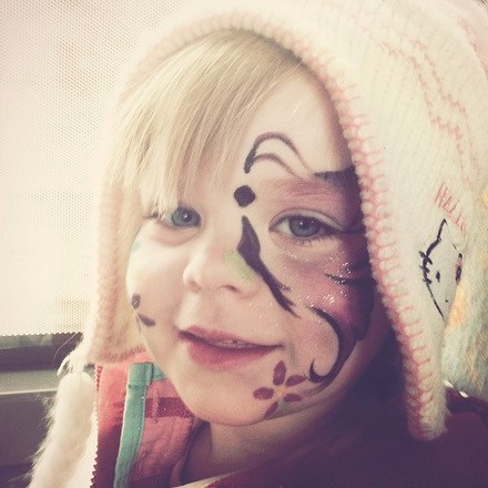 Snowy bus rides with your face painted butterfly!! What morehellip