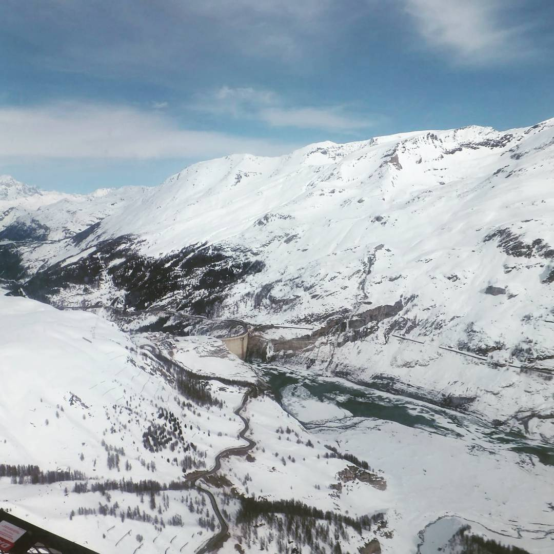 Tignes damn from high up above helicopterride !  hellip
